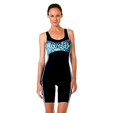 7a49d33708 Padilla Women's One Piece Swimwear Boy Shorts Swimsuit S M L XL 2XL ...