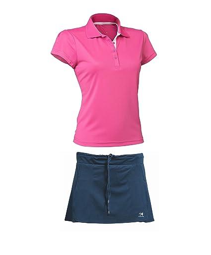 ASIOKA 97/13-102/14 Pack Falda Pantalón + Polo M/Corta de Tenis, Mujer
