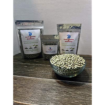 """COOL BEANS n SPROUTS"" Brand, Green Pea Seeds for Sprouting Microgreens, 12 ounce, A superfood packed with antioxidants and health-promoting nutrients. A small town family run USA business.Thank you ! : Garden & Outdoor"