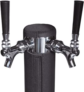 """Keg Tower Insulator, Neoprene Beer Tower Cover, End Foam and Ensure Ice-Cold Pours (Double Tap 3.0"""" Diameter x 14"""")"""