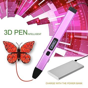 Bolígrafo 3D PCL para Dibujar en Relive, LCD Pantalla, Baja Temperatura, Compatible con