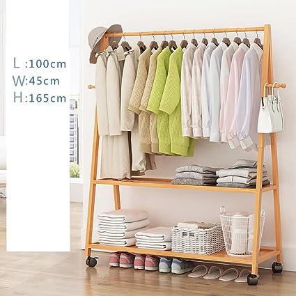 LXSnail Floor Standing Coat Rack, Bedroom Creative Hanging Clothes Rack,  Removable Modern Minimalist