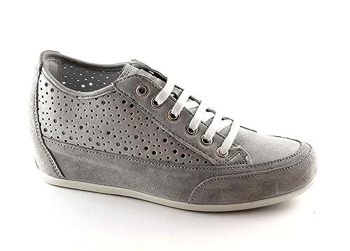 de0819e919 IGI   CO 77860 acciacio zapatos grises mujer zapatillas de deporte cordones  cuña interior perforada 36