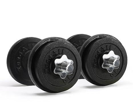 Hierro fundido InfiDeals - ajustable 132,28 lbs pesas (1 par) (Peso