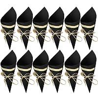 50 Piezas Conos Boda - bolso boda para confeti o bolsa cucuruchos de papel kraft cono