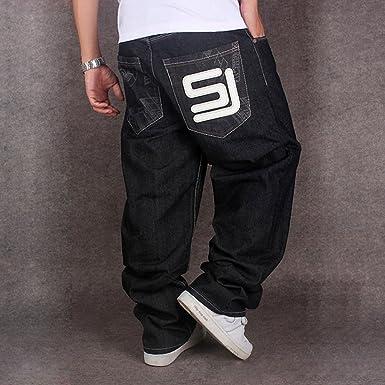 Dexinx Uomo Ragazzi Semplice Solido Colore Hip Hop Jeans Sera Urbano Ballo  di Strada Denim Pantaloni Lunghi  Amazon.it  Abbigliamento 62e40cd6fd97