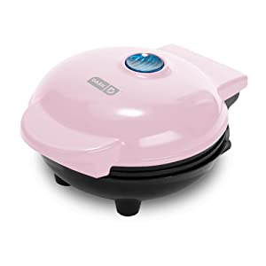Dash DMS001PK Mini Maker Electric Round Griddle for Individual Pancakes, Cookies, Eggs & other on the go Breakfast, Lunch & Snacks with Indicator Light + Included Recipe Book - Pink