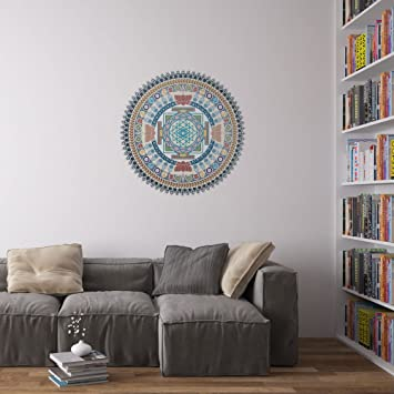 Indian Spiritual Mandala Vinyl Wall Art Sticker Amazoncouk - Vinyl stickers uk