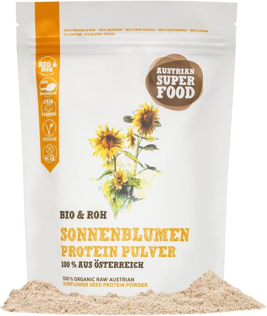 10,85€//kg Mynatura Bio Sonnenblumenprotein-Pulver 2x1000g I Eiweiss Proteinshake
