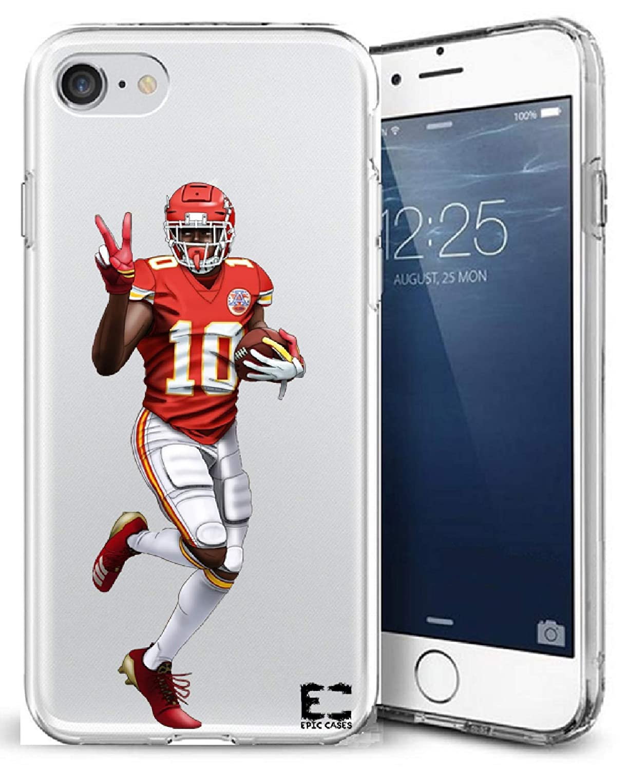 info for 1d15c 70bb6 iPhone6 Plus iPhone 7/iPhone 8 Plus Case Epic Cases Ultra Slim Crystal  Clear Football Series Soft Transparent TPU Case Cover Apple (iPhone 6 ...
