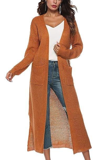 Zilcremo Las Mujeres Tejer Abrigo De Manga Larga Ropa Cárdigan Irregular Knit Abrigos: Amazon.es: Ropa y accesorios