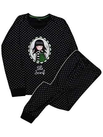 Santoro Gorjuss - Pijama - para Mujer Negro Negro X-Large: Amazon.es: Ropa y accesorios