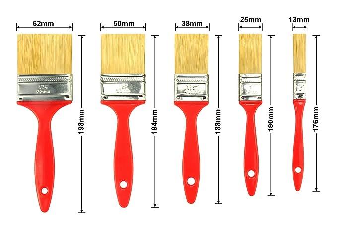 Pinsel KingOrigin 10080A Premium SRT Borsten Malerpinsel-Set Malerpinsel Pinsel-Set 6-teilig