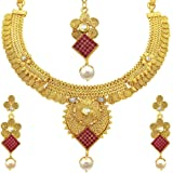 Sukkhi Wedding Collection Jewellery Sets for Women (Golden) (2931NGLDPP1400)