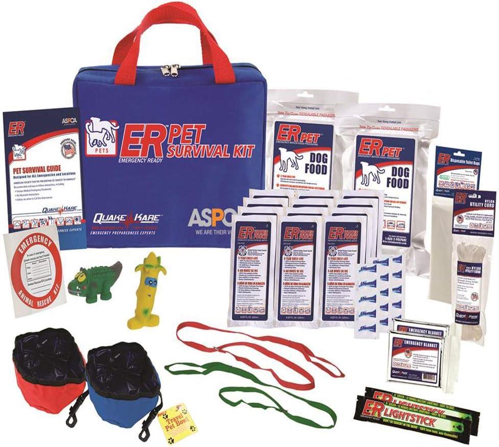 ER Emergency Ready Ultimate Deluxe Pet Survival Kit for Two Dogs, PSKDDK