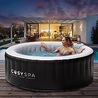 CosySpa Opblaasbare Hot Tub Spa - Bubbelbad Jacuzzi voor de tuin   2-6 Personen - Snelle Opwarming (4 Personen Hot Tub…