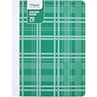 "Mead Composition Book, Notebook, College Ruled, 70 Sheets, 9-3/4"" x 7-1/2"", Fashion, Green (09356BF8)"