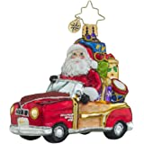 Christopher Radko Vintage Ride Little Gem Santa Claus Christmas Ornament