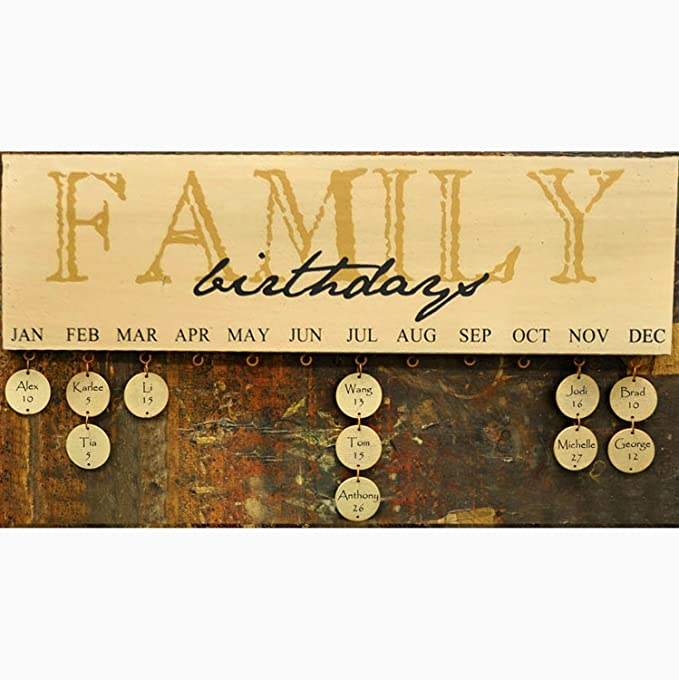 Amazon.com: Family Birthday Calendar - Burgundy: Home & Kitchen