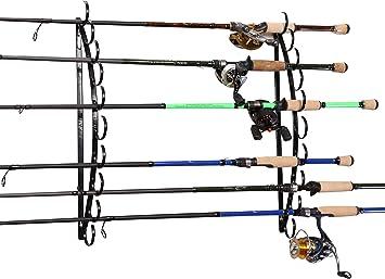 Old Cedar Outfitters Halbmond Horizontal Metall Deckengestell f/ür Angelruten Aufbewahrung Holdsup bis 10 Angelruten schwarz