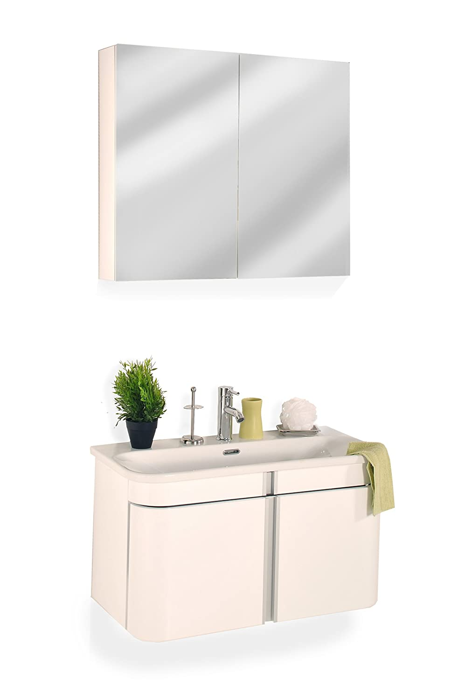 SAM® Design Badmöbel-Set Feniks 2tlg, hochglanz weiß, mit ...