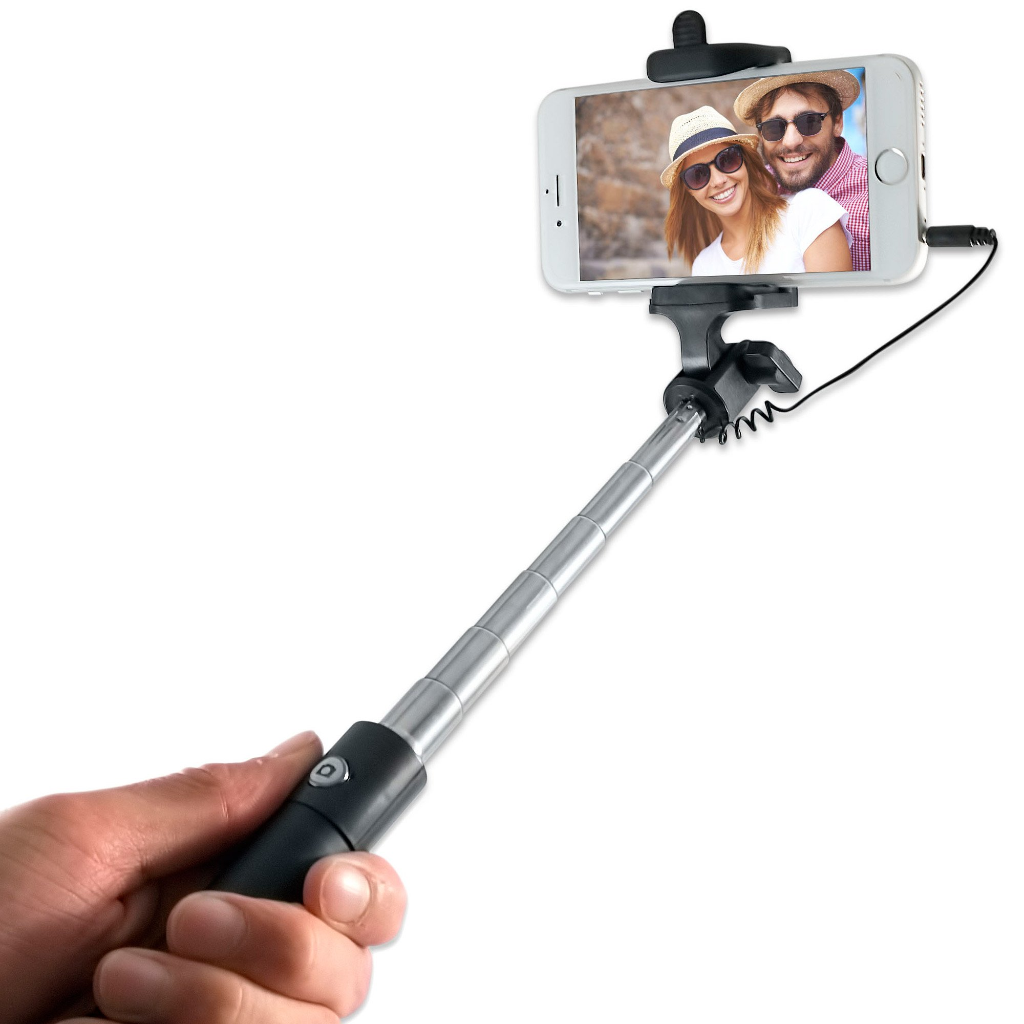 wired selfie stick battery free no bluetooth for apple. Black Bedroom Furniture Sets. Home Design Ideas