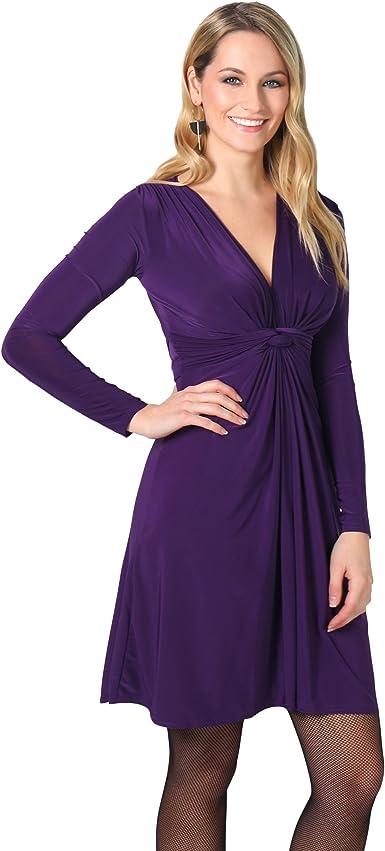 TALLA 36. KRISP Chaqueta Mujer Fiesta Punto Encaje Blazer Elegante Cardigan Morado (9878) 36