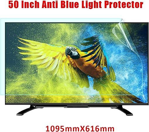 Protector De Pantalla Azul De TV De 50 Pulgadas, Monitor Anti-Blue Light Filter Anti-Scratch Panel Protector De Pantalla para Protección Ocular para LCD, LED, OLED Y QLED 4K HDTV,1095X616mm: Amazon.es: Hogar