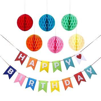 Juvale Birthday Party Decoración - Alles Gute Zum Cumpleaños ...