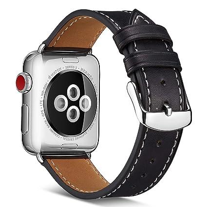 Amazon.com: Compatible con Apple Watch Band correa de cuero ...