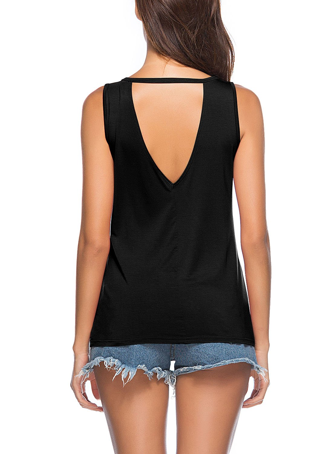 Yucharmyi Women's Sleeveless Casual Tank V Neck Causal