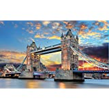 Meryi London Bridge Jigsaw Puzzles for Adults 1000 Piece, Adult Children Tower Bridge Intellective Educational Toy DIY…