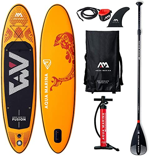 2019 Upgraded 10 4 Fusion iSUP Inflatable Paddleboard ith Bag Leash Paddle Pump – Adults and Youth Sup Deck Stand Up Paddle Boards Blow Up – 6 Thick 30 Wide