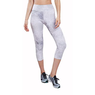 Lynx Active Deep Marble Capri Leggings For Women Yoga Tights Athleisure