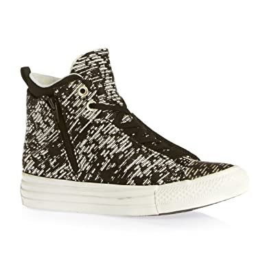 608f53d20baca7 Converse Women CTAS Selene Winter Knit Mid 553355C Sneakers Black UK 6.  Roll over image to zoom in