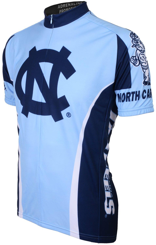 Adrenaline Promotions NCAA North Carolina Tar Heels Radfahren Jersey, hellblau dunkelblau