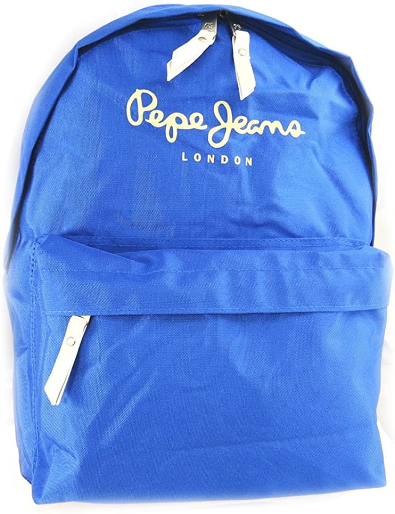 Amazon Com Backpack Pepe Jeans Blue Computer Format Clothing