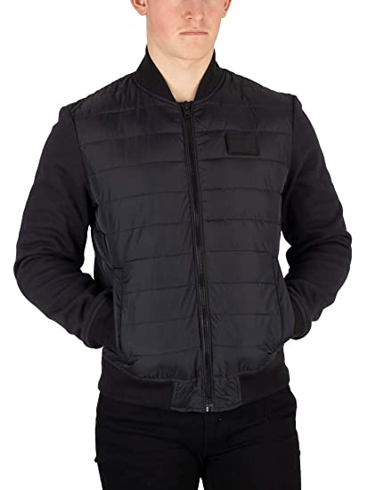 7cdd024ea694e0 Tommy Hilfiger Men's Inside Stripe Rib Quilted Jacket, Black: Amazon ...