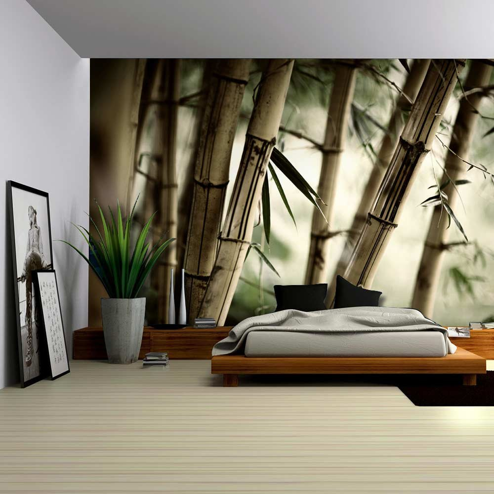 amazon com wall26 close up views of a bamboo forest wall amazon com wall26 close up views of a bamboo forest wall mural removable sticker home decor 100x144 inches home kitchen