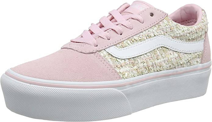 Vans Ward Sneakers Platform Damen Rosa/Tweed