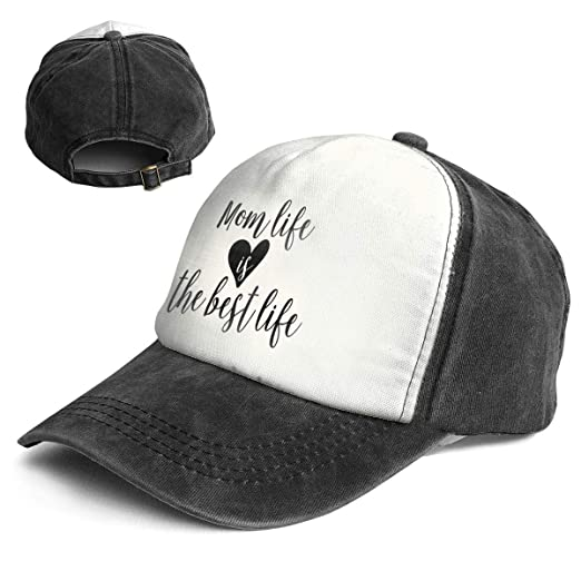 8a622ad1d16 Amazon.com  QZDLq Fashion Vintage Hat Mom Life is The Best Life Adjustable  Dad Hat Baseball Cowboy Cap  Clothing