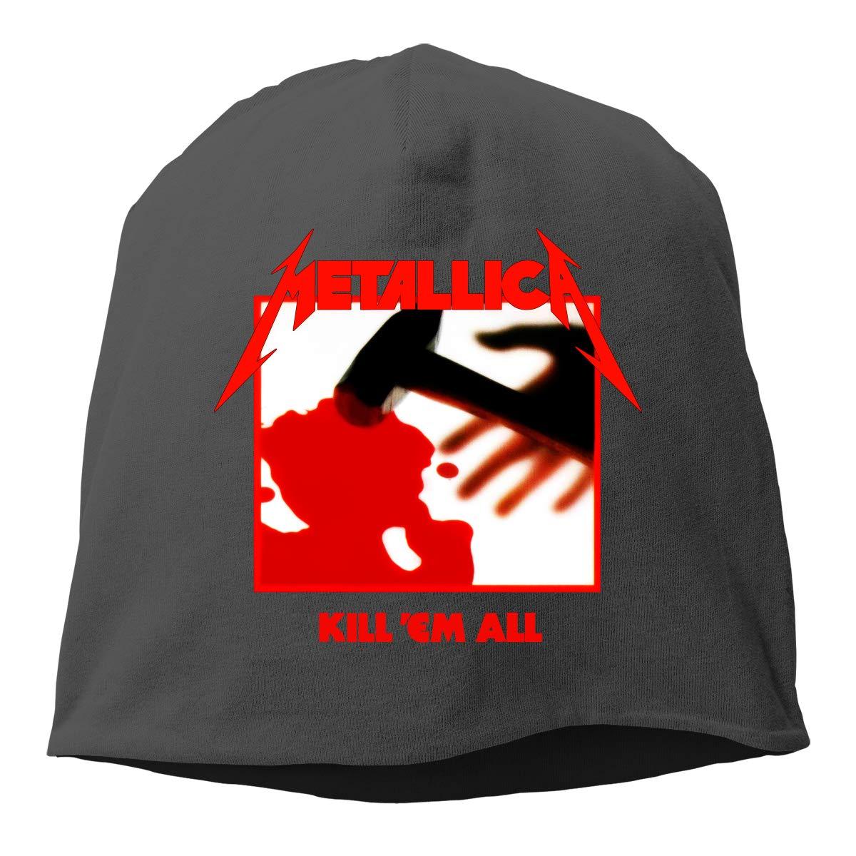 LixuA Beanie Metallica Kill Em All Funny Men Women Warm Comfortable Cotton Skull Knitted Hat Knit Caps