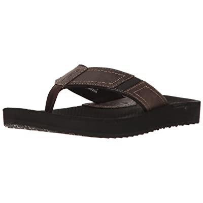 Dunham Men's Carter Flip Flop, Brown, 14 D US | Sandals
