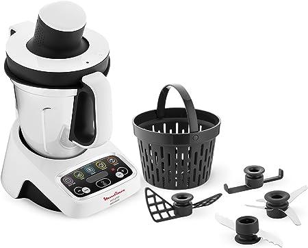 Moulinex hf4041 volupta Robot de cocina multifunción con cocción, 5 programas automáticos para pasta, platos al vapor, vellutate y postre, 1000 W, Capacidad 3L, 100 deliziose recetas incluidas: Amazon.es: Hogar