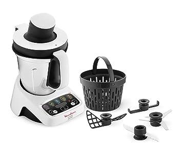 Moulinex HF4041 Volupta Robot da Cucina Multifunzione con Cottura, 5  Programmi Automatici per Pasta, Piatti al Vapore, Vellutate e Dessert,  1000W, ...