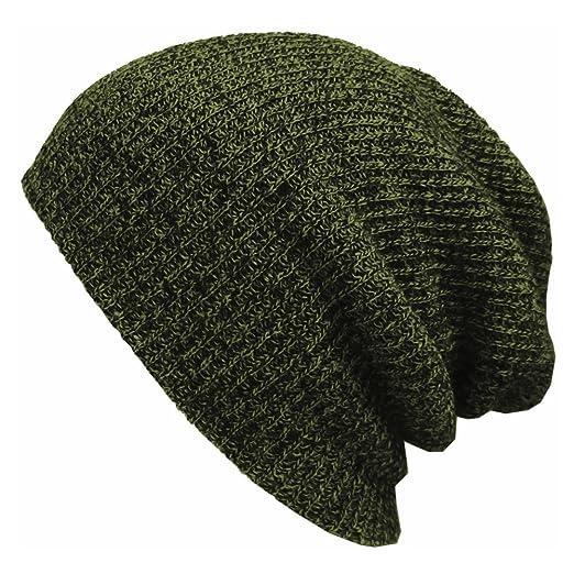 c565c407b2b Kafeimali Men s Slouchy Long Beanie Knit Caps for Baggy Skull Chunky Snowboard  Hats Ski Skull Caps