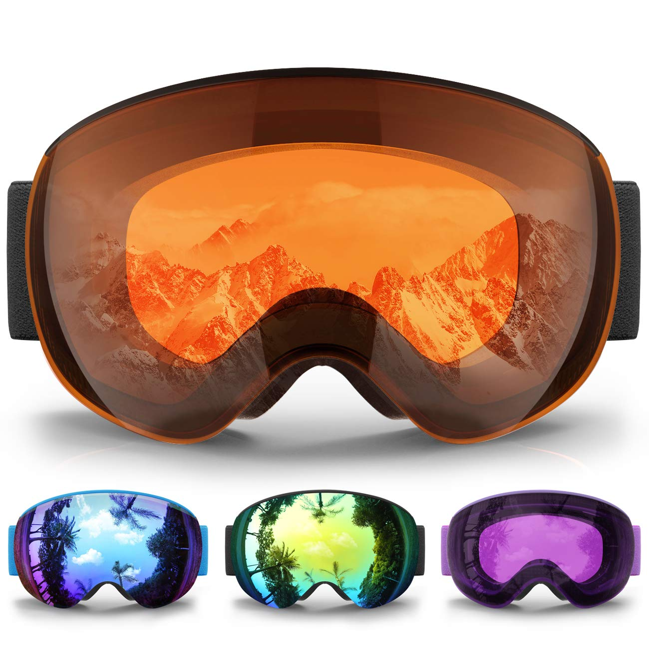 eDriveTech Masque de Ski Homme Femme, Lunette Masque Ski Lunettes de Ski  pour Homme Femme e1af2b4883ac