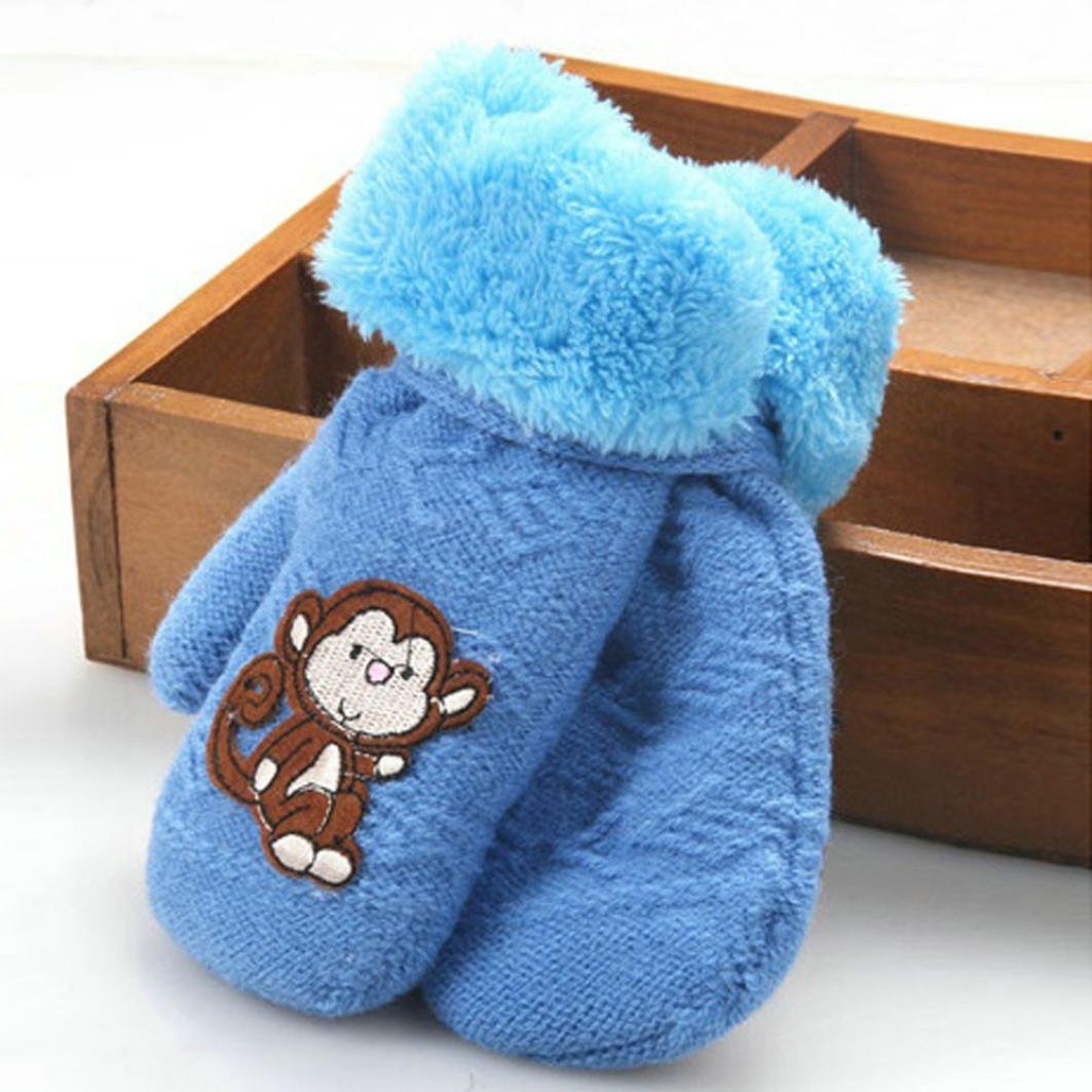 Muium Infant Baby Girls Boys Cute Thicken Hot Winter Warm Gloves For 1-8 Years old