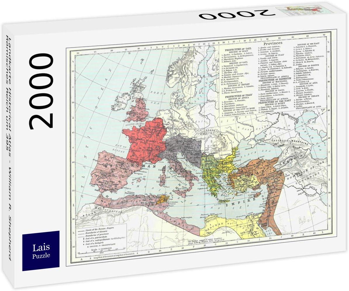 Lais Puzzle Mapa del Atlas Histórico - William R. Shepherd Imperio Romano Alrededor del 395 2000 Piezas: Amazon.es: Juguetes y juegos
