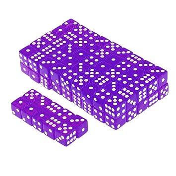 100 X 16mm Translucides Six Spots Face Jeux Rpg Dés Purple: Amazon